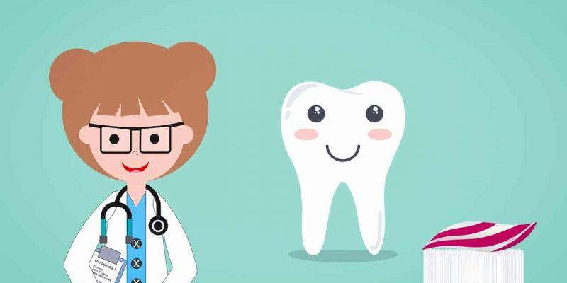 רופאה שן ומברשת