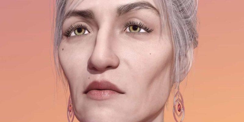 אישה מבוגרת מזדקנת